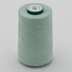 Chambray à pois Menthe